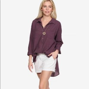 Free people perfect boyfriend button down tunic